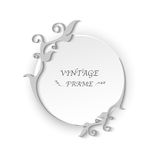 Circle vintage frame template elements Royalty Free Stock Images