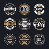Circle Vintage and Retro Badge Design Collection vector illustration