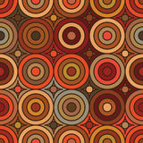 Circle vintage style symmetry seamless pattern Stock Image