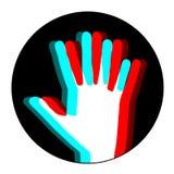 Circle visual hand Stock Photo