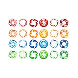 Circle,water,logo,wind,sphere,plant,leaves,wings,flame,sun,abstract,infinity,Set of round icon symbol vector design royalty free illustration