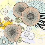 Circle watercolor acrylic beautiful background. Online screen background. Natural popular art. Contrast leaves and flowers fabric. Cool modern screen cover royalty free illustration
