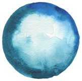 Circle watercolor painted background. Paper texture Royalty Free Stock Images