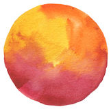 Circle watercolor painted background. Royalty Free Stock Image