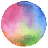 Circle watercolor painted background. Texture paper Royalty Free Stock Image