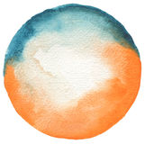 Circle watercolor painted background. Texture paper Royalty Free Stock Photo