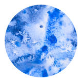 Circle Watercolor Wash Salt Technique Royalty Free Stock Photography