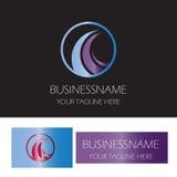 Circle wave logo Royalty Free Stock Photos