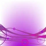 Circle waves purple stock illustration