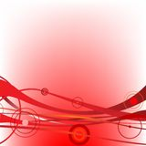 Circle waves red Royalty Free Stock Photography