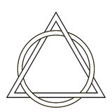 Circle weave triangle tattoo Stock Image