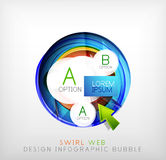 Circle web design bubble | infographic elements Stock Photos