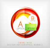 Circle web design bubble | infographic elements Royalty Free Stock Photography