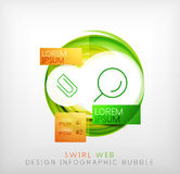 Circle web design bubble | infographic elements Royalty Free Stock Images