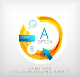 Circle web design bubble | infographic elements Royalty Free Stock Photos