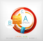 Circle web design bubble | infographic elements Stock Images