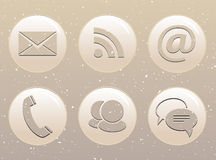 Circle web icons on grunge background Royalty Free Stock Images