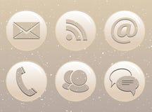 Circle web icons on grunge background Royalty Free Stock Images