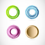 Circle whirl logo icon element set Royalty Free Stock Photo