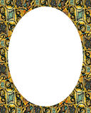 Circle White Frame Background with Decorated Borders Stock Images