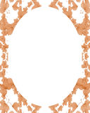 Circle White Frame Background with Decorated Borders Stock Image