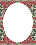 Circle White Frame Background with Decorated Borders Royalty Free Stock Photography