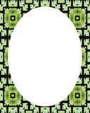 Circle White Frame Background with Decorated Borders Royalty Free Stock Photos