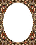 Circle White Frame Background with Decorated Borders Stock Photo