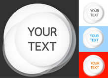 Circle white. It is circle frame use put your text Stock Photo