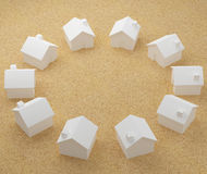 Circle of white houses Stock Photography