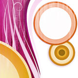 Circle white pink orange. Abstract vintage background with circle on pink and orange with space for text Stock Images