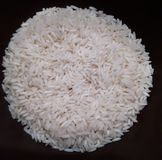 A circle of white rice royalty free stock photos