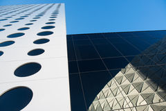Circle windows, Skyscraper Stock Images