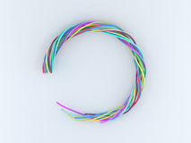 Circle of wire Royalty Free Stock Photography