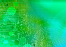 Circle wireframe 1 - a series. Circle green with wireframe A3 Stock Image