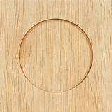 Circle on wood. Royalty Free Stock Photo