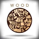 A circle of wood graphic Stock Photo