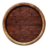 Circle wooden buttons, illustration. Wooden texture Stock Image