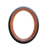 Circle wooden frame Stock Photos