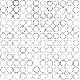 Circle wreaths and frames with place for your text. royalty free illustration