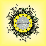 Circle of yellow background patterns Royalty Free Stock Photos