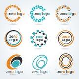 Circle Zero Logo For Business Vector Set Design Stock Image