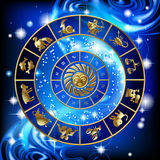 Circle of zodiac Stock Images