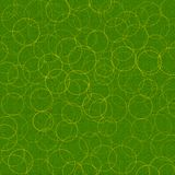 Circled background. Grunge green textured background with yellow circles Stock Photos