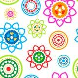 Circled hearts seamless pattern Stock Image