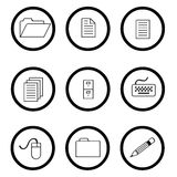 Circled icons Stock Photo