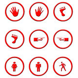 Circled icons Stock Photography
