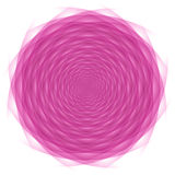 Circled pink ornament. Circled pink abstraction on white background Stock Photography