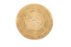 Circled Rattan Mat Stock Images