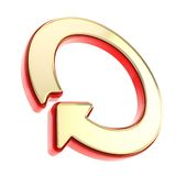 Circled round arrow copyspace emblem glossy icon Royalty Free Stock Images